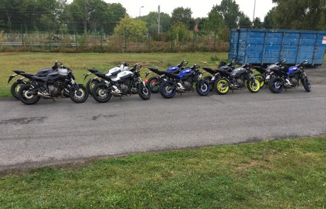Motos pour les stagiaires de la formation BEPECASER et CCS deux roues